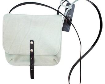 Handbag VON light grey / grey leather bag / over the shoulder bag / genuine leather / grey leather tote / small handbag / leather purse