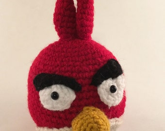 Amigurumi Crochet Red Angry Bird