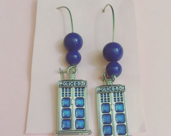 Tardis- Earrings
