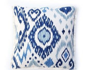 Sale Rain Ikat Pillow Cover