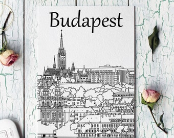 Illustration of Budapest