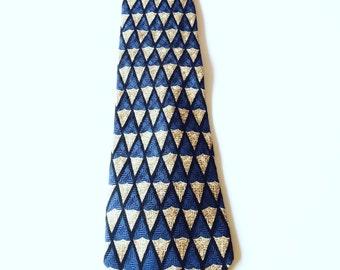 Vintage tie in pure silk Calabrese