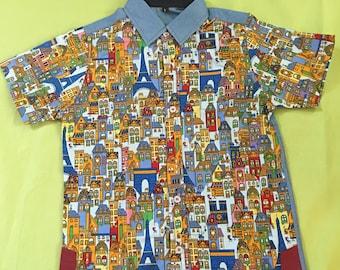 Boy's little house shirt