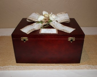 Rustic Wedding Wooden Wishes Box /Rustic Wedding Box / Wedding Wishes Box