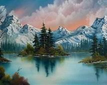 Forest Lake Landscape Premium Digital Cross Stitch Pattern in PDF