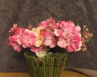 Natural grass pink arrangement. #314