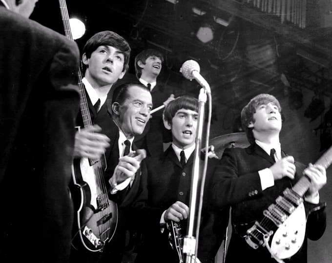 """The Beatles Make Their First Appearance on American Television on the """"Ed Sullivan Show"""" - 5X7, 8X10 or 11X14 Publicity Photo (ZZ-021)"""
