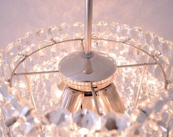 Vintage chandelier - Mid-century crystal chandelier