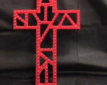 Blingy Wood Cross