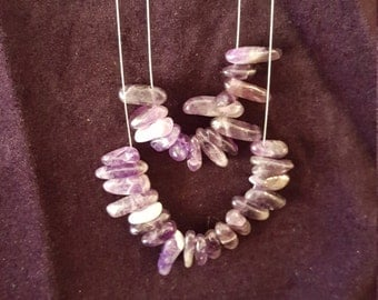 Amethyst multi strand necklace