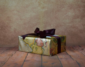 Luxury Collect Gift Wrap Kit - Map
