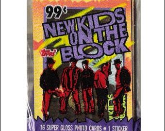 1989 New Kids On The Block NKOTB Unopened Trading Card Pack topps