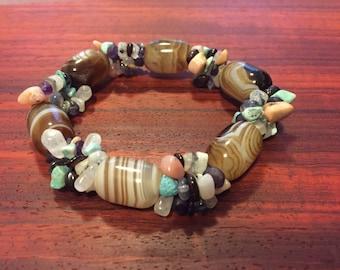 Cluster gemstone bracelet