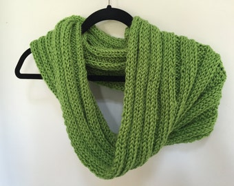 Bright Lime Knitted Cowl