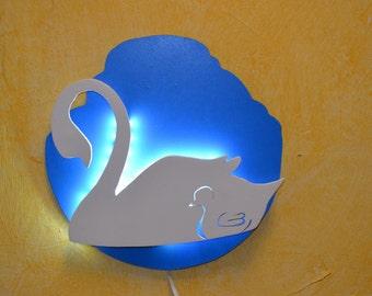 Lamp night for babies, Swan.