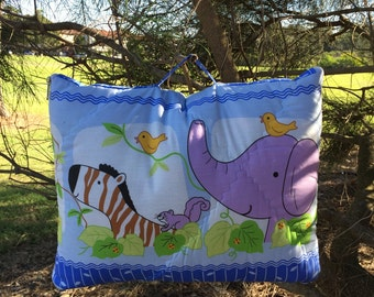 Elephants and Friends Quillow