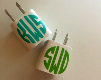 Monogram iphone charger