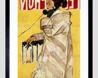Advert Telephone Woman Call Talk Switzerland Poster Art Print FEBB2169B