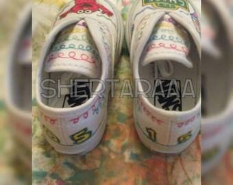 "Customized ""ELMO""S WORLD"" Vans Sneakers"