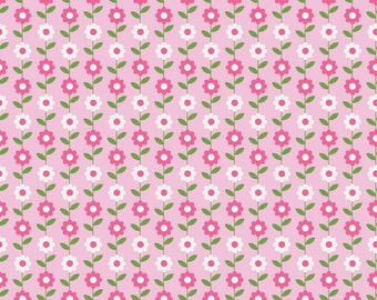 Quilting Fabric -Daisy Pink of Summer Song 2 by Zoe Pearn for Riley Blake Designs (Yardage, 100% Cotton Quilting Fabric)