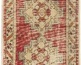 Super Antique very nice hand knotted wool Turkish rug runner 3.0 x 9.0