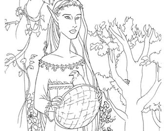 Bramble Elf Coloring Page