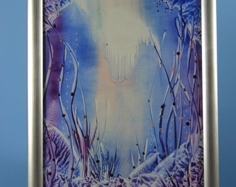 Encaustic Mystical Underwater scene