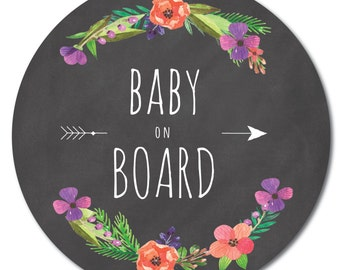 Baby on Board sticker / baby on board sticker