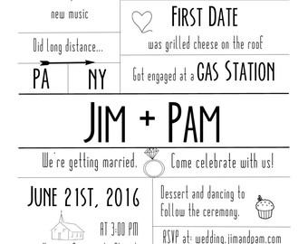 The PBJ: Customizable Save the Date & Wedding Invitation (Digital Download)