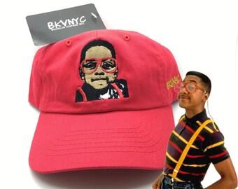 Steve Urkel Family Matters 90s Vtg Rare Red Dad Cap Hat