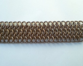 Unique handmade heavy metal bracelet - chainmail 4 in 1