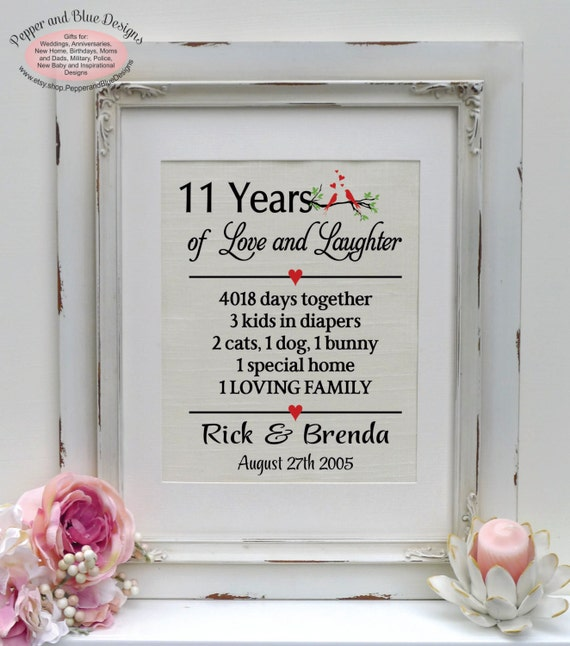 11 Year Wedding Anniversary Gifts: 11th Anniversary Gifts 11 Years Married 11 By