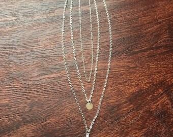 Delicate Multi-Layer Silver Necklace