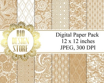 Digital Paper Pack, Background, Craft  lace, Instant Download