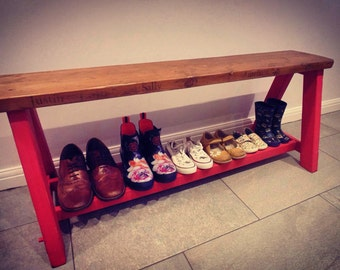 Personalised Shoe Bench