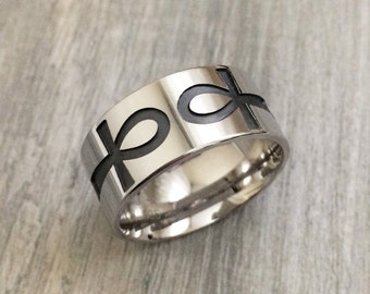 egyptian silver ring egyptian jewelry egyptian wedding ring ankh ring egyptian iconography - Egyptian Wedding Rings