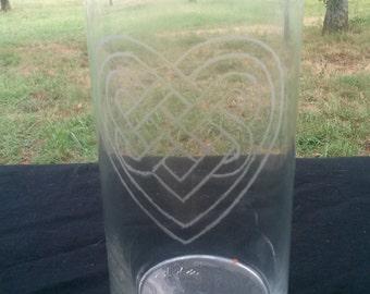 Celtic Heart Vase