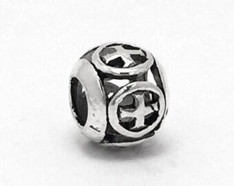 Retro Tibetan Cross Charm, fits Pandora Bracelets