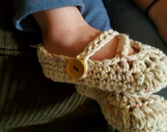 Mary Jane Double-Strapped Slippers