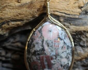 crinoid marble pendant