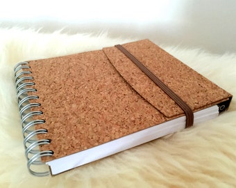 Natural Cork notebook sketch with pen, Wine Cork Crafts, Guest Book, Memory Book, Anniversary Book, eco-friendly, gift for her, gift for him