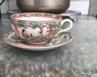 Antique Chinese cup and saucer