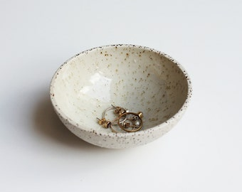Unique. Handmade Bowl dotted ceramic. Timeless & elegant.