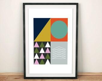 Geometria (A3 Art Print)
