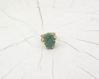 LILIUM ring brass Hiresh small dark