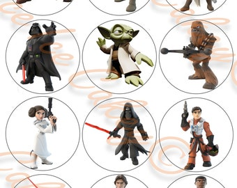 Star Wars Cupcake Toppers - Version 2