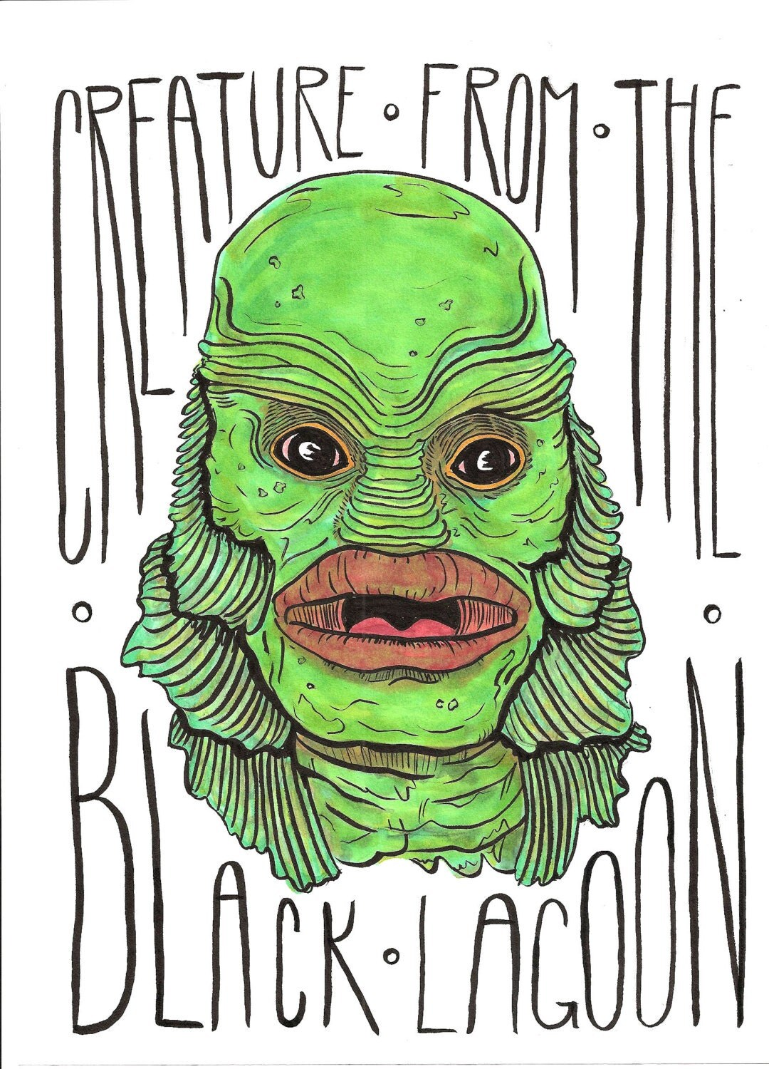 Creature from the black lagoon color original by digitalburden for Creature from the black lagoon coloring pages