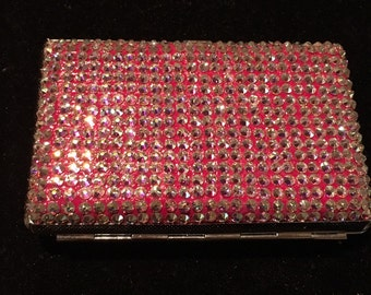 Swarovski stone card holder. Available Now. Get organized and bling