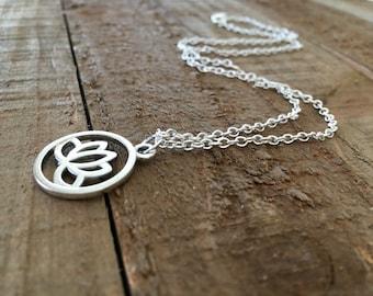 Lotus necklace-Lotus jewelry-gift