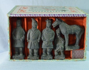 FOR SALE:  Chinese Terracottas Ceramic Soldiers in Original Box